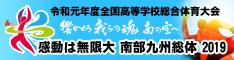 感動は無限大 南部九州総体 2019 平成31年度全国高等学校総合体育大会(インターハイ)バナー